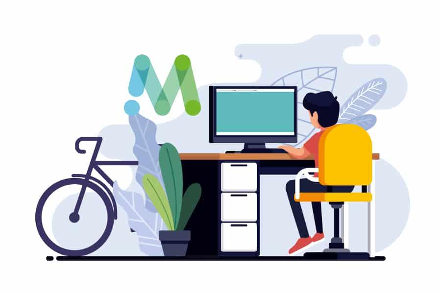 fiets challenge voor thuiswerkers