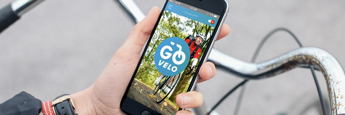 Go Velo app op de fiets